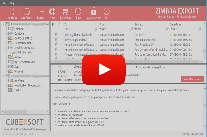 Zimbra Mail Converter to Convert Zimbra Emails to PST, PDF